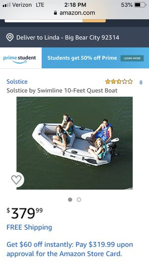 Solstice by Swimline 10-Feet Quest Boat