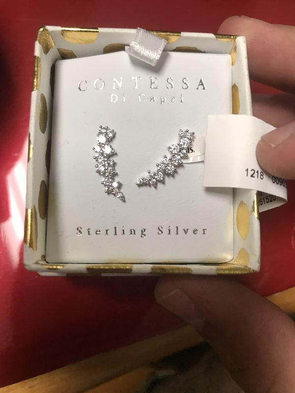 0b511eaf3 Contessa Di Capri Sterling Silver Earrings for Sale in Upland, CA ...