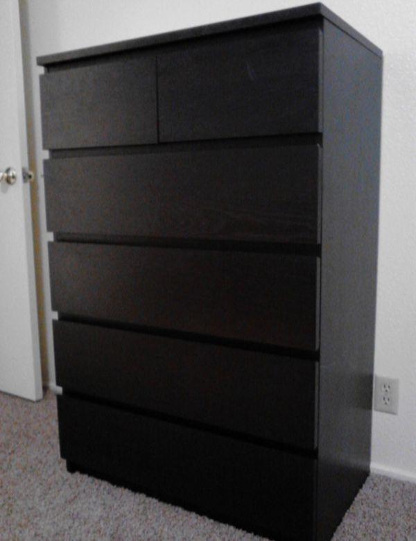Ikea Balck Malm 6 Drawer Chest Dresser Furniture In San Francisco Ca Offerup
