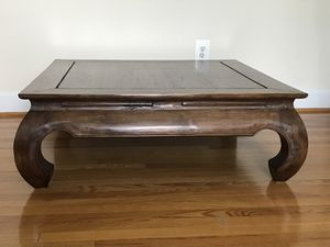 "Teak Balinese ""Opium Leg"" Coffee Table for Sale in Alexandria, VA"