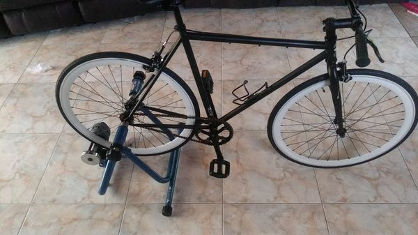 Fixie Bike With Brakes And Stationary Trainer For Sale In
