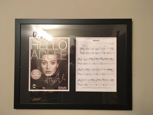 """Signed album cover from """"Hello"""" this is actually signed and authenticated by Adele. for Sale in Cleveland, OH"""