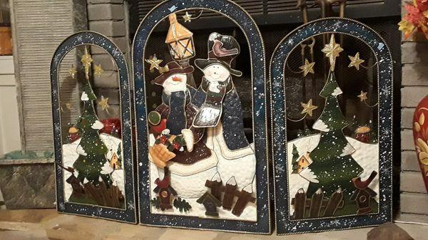 Christmas Fireplace Screen.Christmas Snowmen Fireplace Screen For Sale In Apopka Fl Offerup