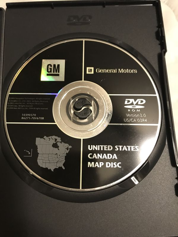 GM General Motors United States•Canada Map disc for Sale in Fontana ...