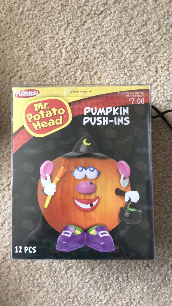 Pumpkin Decorating Kit Push Ins Mr Potato Head New In Box