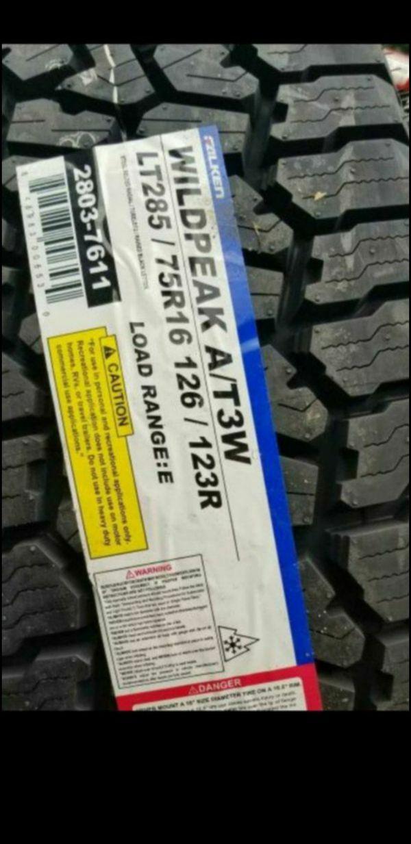 Hyundai Inland Empire >> 4 New LT 285 75 16 Falken Wildpeak AT3W Tires LT285/75R16 Load E Tire 33 x 11.50 -R16 for Sale ...