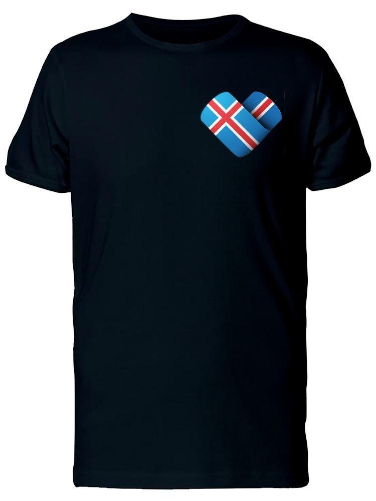 Smartprints I Love Iceland Heart Flag Tee Men's -Image by Shutterstock Black Size 3XL