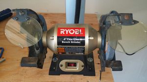 Admirable Ryobi Bgh615 6 Thin Line Bench Grinder With Light For Gmtry Best Dining Table And Chair Ideas Images Gmtryco