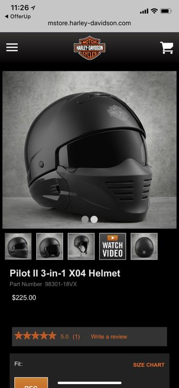 Pilot 3 In 1 Harley Helmet Never Used Brand New In Box Sz Small For
