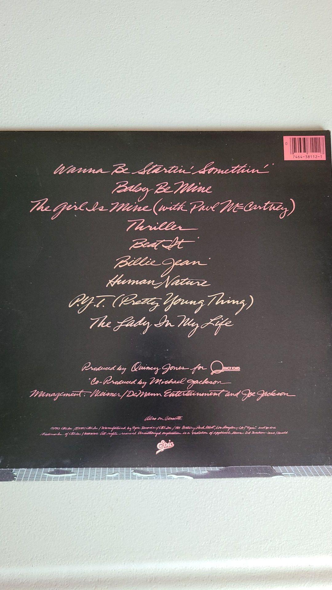 Original Michael Jackson it's thriller album vinyl