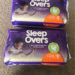 Sleepovers L-XL 60-125 Lbs Both For $15 Thumbnail