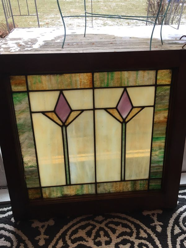 0970cd3943f Antique stained glass window for Sale in Twin Lakes