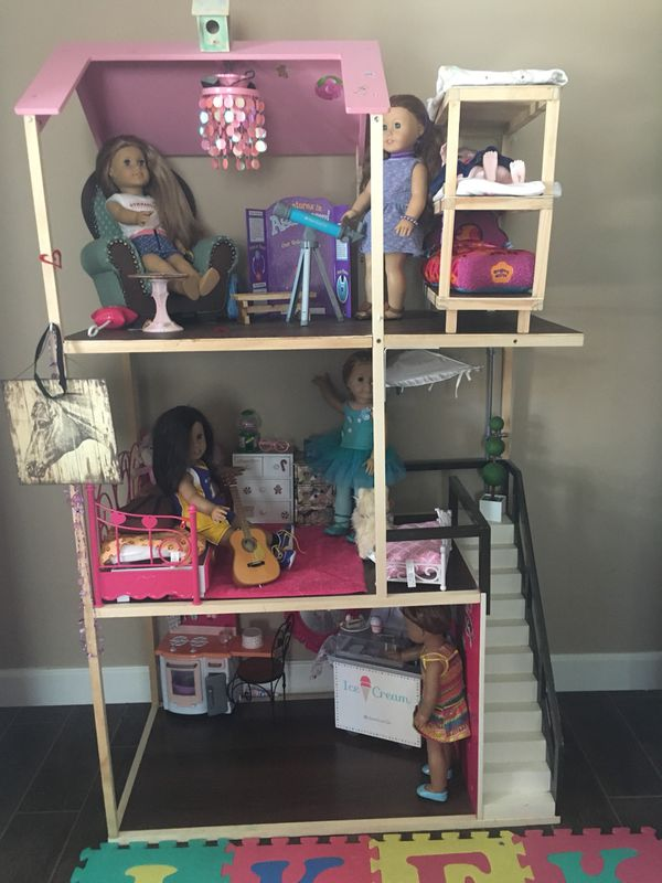 Our Generation Wooden Doll House For 18 Dolls For Sale In