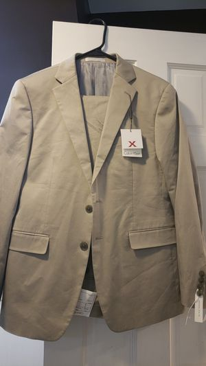 Brand new with tags Calvin Klein Macy's mens store suit 40s 33 waist khaki for Sale in Washington, DC