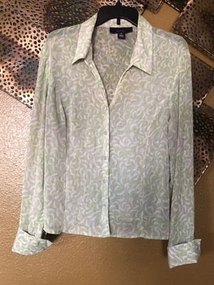 Sheer Grey/Very Light Green/White Blouse-Size 16 for Sale in Orlando, FL