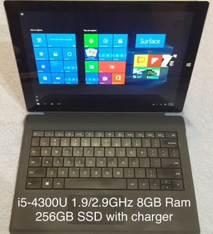 "Microsoft Surface Pro 3 i5 8GB 256GB Win10 pro 12"" tablet/laptop for Sale in Rockville, MD"