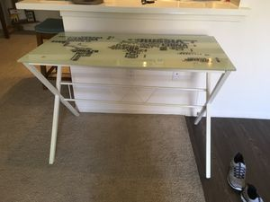 White metal and glass top map of world in letters for Sale in San Diego, CA