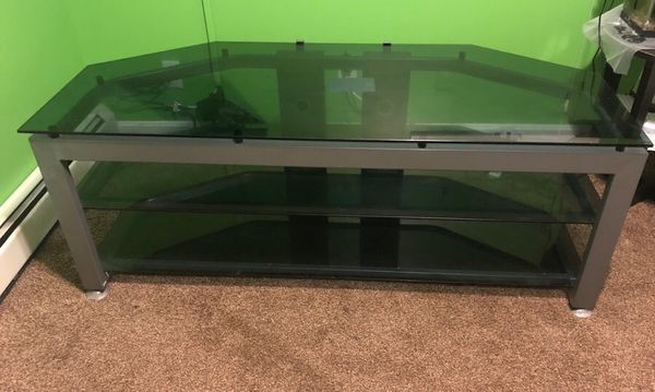 3 Tiered Glass Tv Stand For Sale In Acushnet Ma Offerup