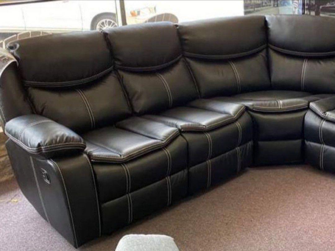 Bastrop black reclining sectional sofa