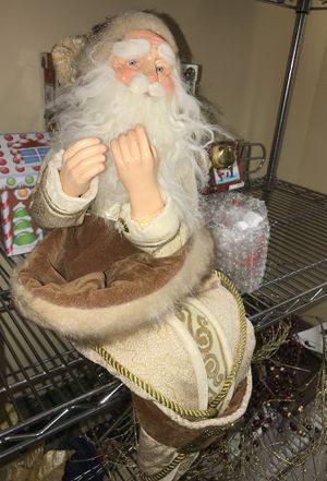 Christmas Santa clause with a stocking built in for Sale in Burke, VA