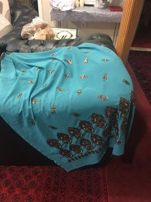 Fabric blue with sequins for Sale in Springfield, VA