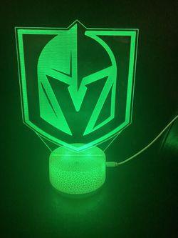 VGK Hockey Vegas 3d Lamp Thumbnail