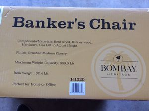 Banker's chair wood-new for Sale in Glen Allen, VA