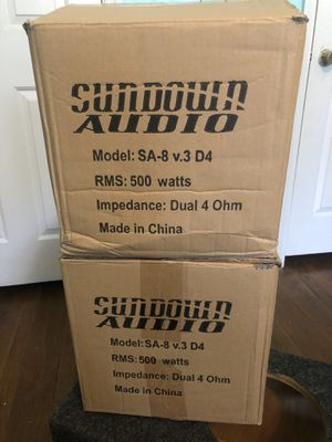Photo (Brand New) Sundown Audio 8 inch subs (2) with (Brand New) Box