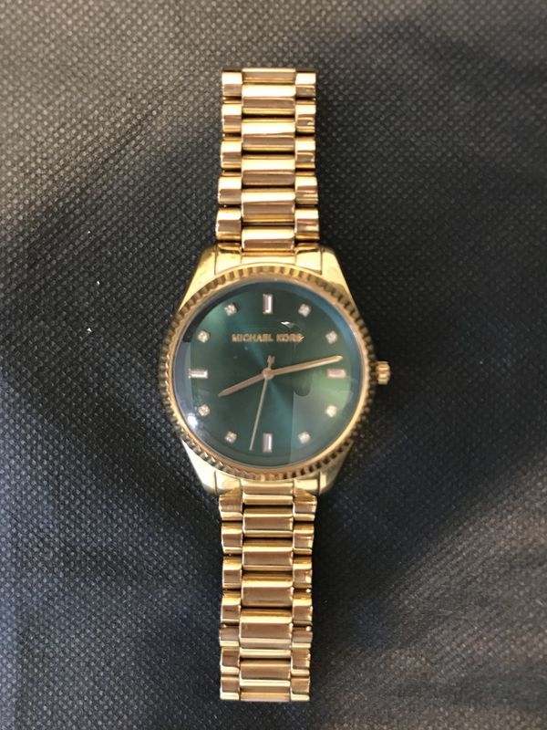 3eae64c41e9f Michael Kors women s gold watch with green face for Sale in Austin ...