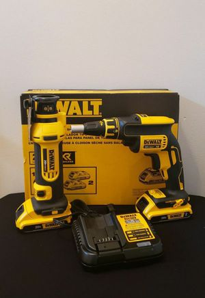 Photo New Kit Dewalt Drywall Screwgun Drywall and Cut Out whit Batteries (2) 2.0AH and Charger FIRM PRICE