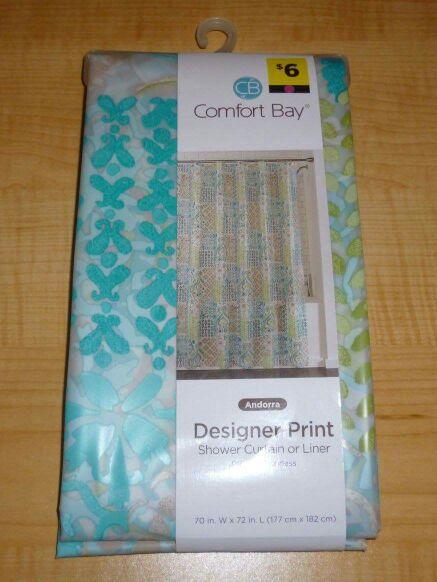 BRAND NEW Comfort Bay Designer Print Shower Curtain Or Liner For Sale In Saint Petersburg FL