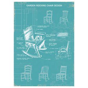 Chair blueprint poster for Sale in Arlington, VA
