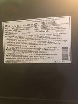 LG Microwave Stainless Steel 1,200 Watts.  Thumbnail