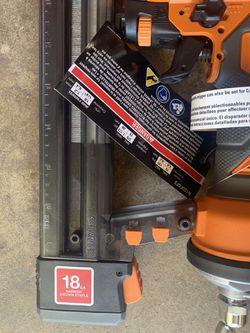 Ridgid narrow crown stapler 18 ga Thumbnail