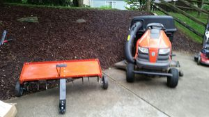 Husqvarna riding mower with aerator attachment for Sale in Germantown, MD