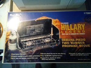 Sir Edmond Hillary Deluxe Piezo Two Burner Propane Stove for Sale in Las Vegas, NV