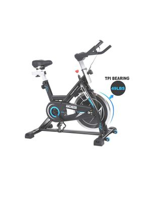 Photo ANCHEER Indoor Cycling Bike Stationary Exercise Bikes