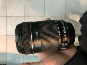 Canon camera lens 18-135mm for Sale in Chicago, IL