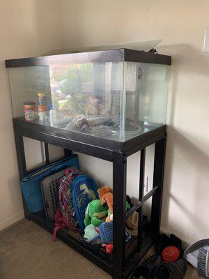 Photo 45 Gallon Fish Tank w/ Stand