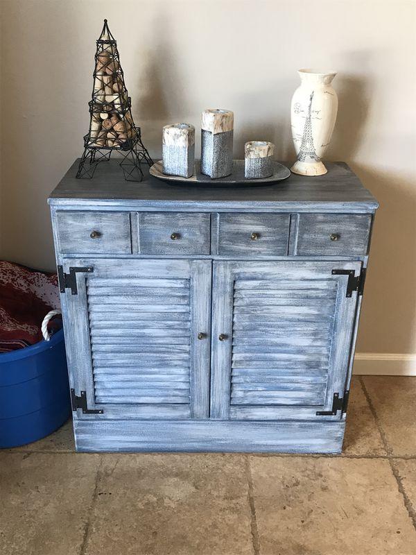 Blue Distressed Ethan Allen Dresser Tucson