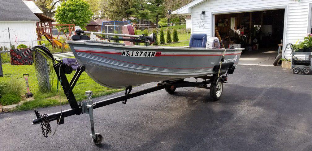 Photo Fishing Boat 1994 V 14 Aluminum Craft Boat FOR SALE Madison,Wi