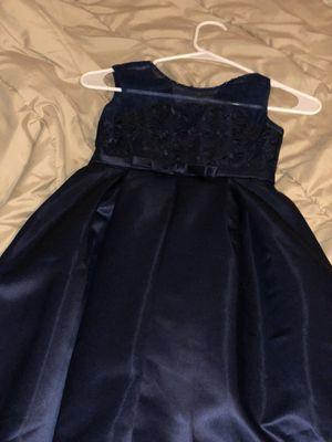 2 Girls wedding dress navy blue worn once for Sale in Houston, TX