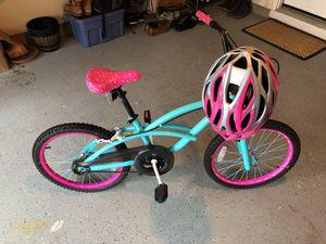 Girl bike with helmet for Sale in Fairfax, VA