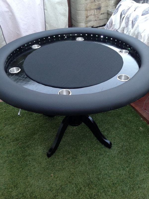 Awesome 6 Person Round Poker Table With Led Lights For Sale In Upland Ca Offerup Beutiful Home Inspiration Xortanetmahrainfo
