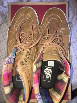 Vans Brown Leather Sk8-Hi Thumbnail