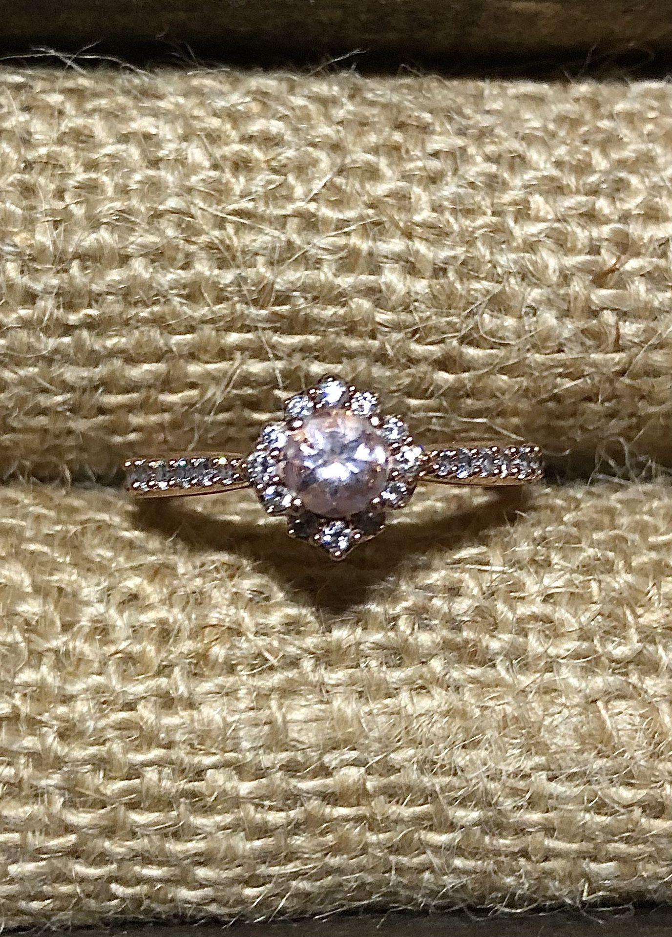 Rose gold  Engagement Ring Morganite