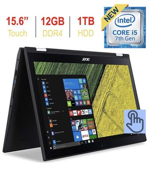 cer 3.3 out of 5 stars 15 Reviews Newest Acer Spin 3 2-in-1 15.6'' Touchscreen FHD 1080p IPS Laptop PC, 7th Gen Intel i5-7200u 2.50GHz, 12GB DDR4 SD for Sale in Alexandria, VA