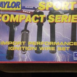 NEW! Taylor Vertex Cable 77207 Spiro-Pro 8mm Red Spark Plug Wire Set For '92-'02 4-cylinder Honda, Acura, Isuzu Thumbnail