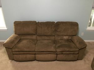 Reclining Microfiber Sofa for Sale in Amherst, OH