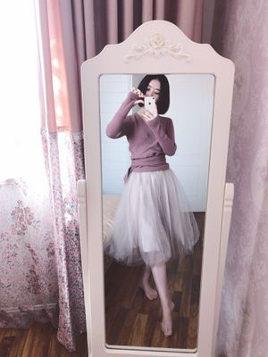 656a669945 Instagram grey pink dusty rose ballet tulle skirt for Sale in Seattle, WA